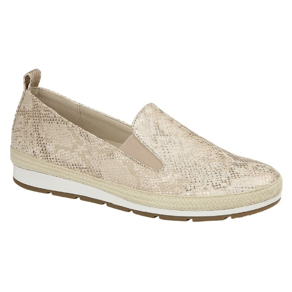 Cipriata Luca skor för kvinnor / damer 8 UK Guld Metallisk Faux