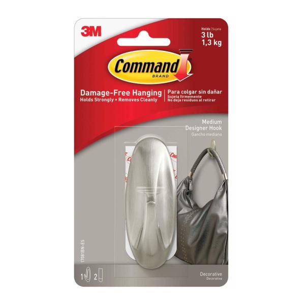 Command Dekorativ krok One Size Silver