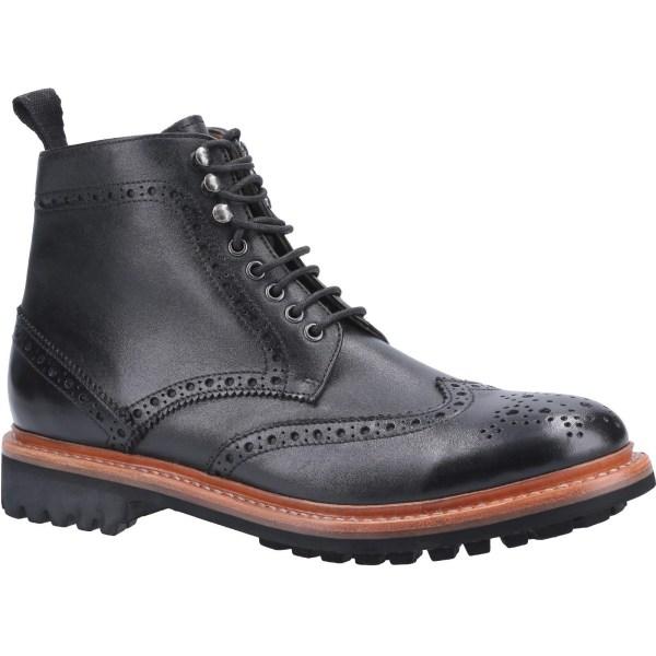 Cotswold Mens Rissington Commando Lace Up Leather Dress Boot 8 U