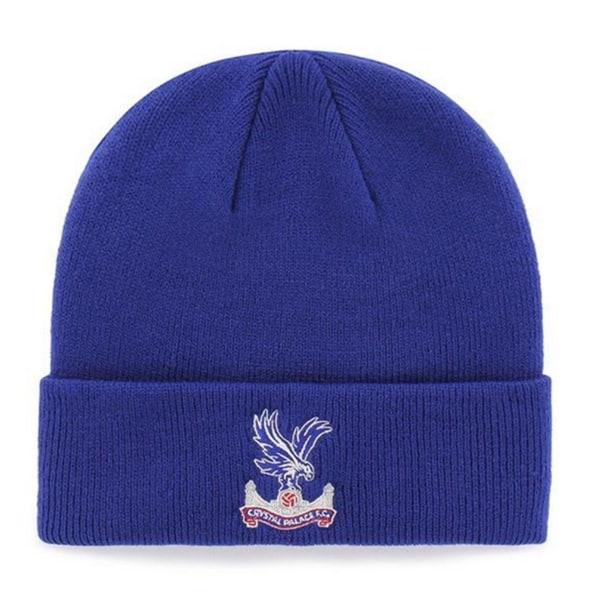 Crystal Palace FC Officiell manschett stickad hatt One Size Blå