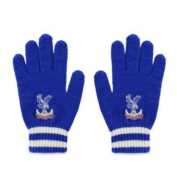 Crystal Palace FC Officiella vuxna unisex stickade handskar One