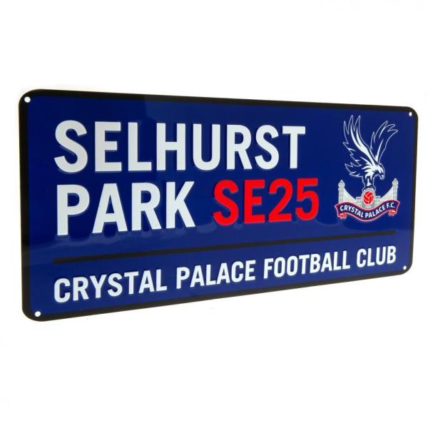 Crystal Palace FC Vägskylt One Size Kungblå / vit / röd