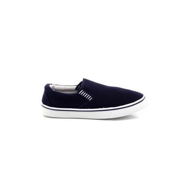 Dek Herr Gusset Casual Canvas Yachting Shoes 10 UK Marinblå