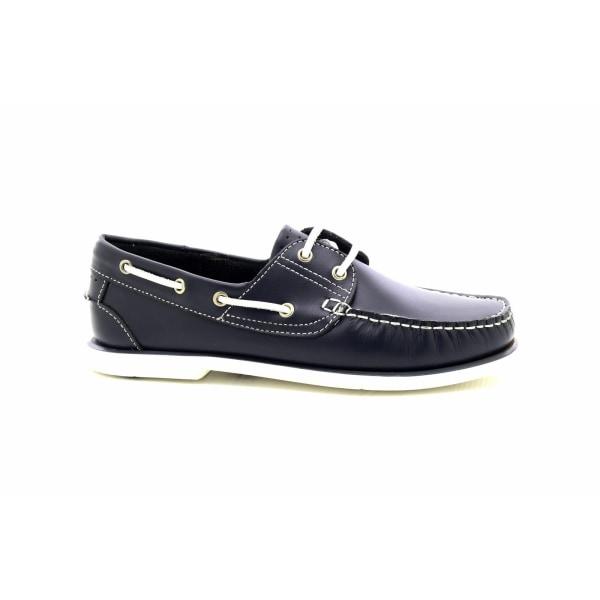 Dek Läder som inte märker mockasinbåtskor 11 UK Marinblå Navy Blue 11 UK