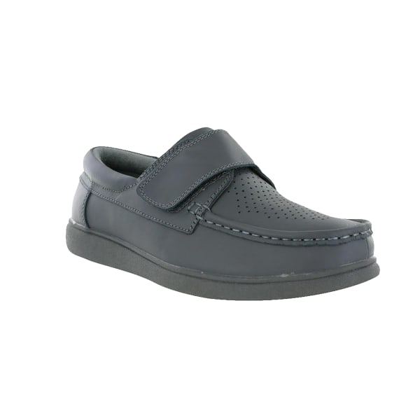 Dek Mens Touch Fastening Leather Bowling Shoes 9 UK Grå