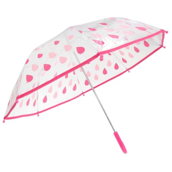 Drizzles Paraply för regndroppar för barn / barn One Size Rosa