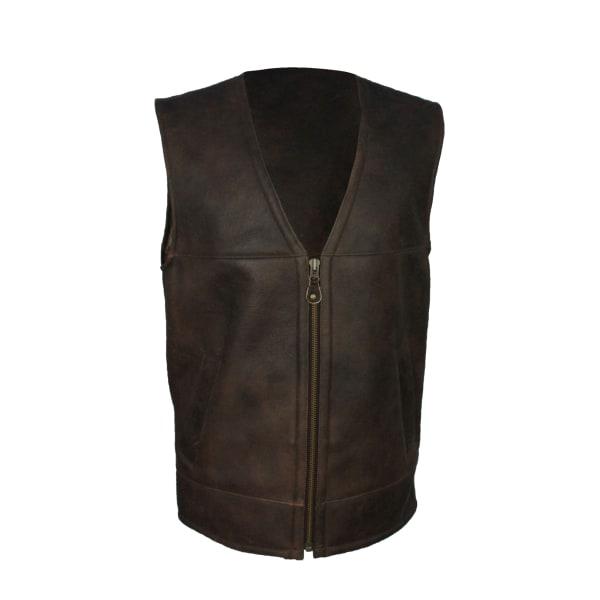 Eastern Counties Leather Herrar Giles fårskinn Gilet 40 inch Cho
