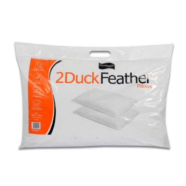 Easy Comfort Duck Feather Kuddar (par) One Size Vit