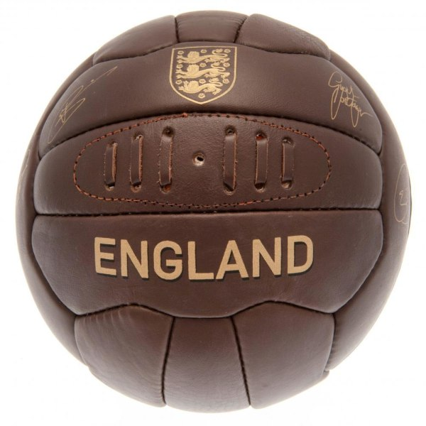 England FA Leather Retro Heritage Football One Size Brown