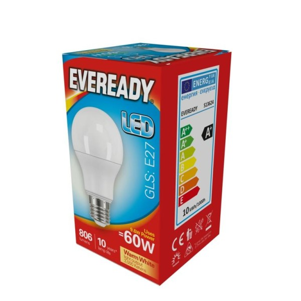 Eveready LED GLS E27 lampa 14w Varm vit