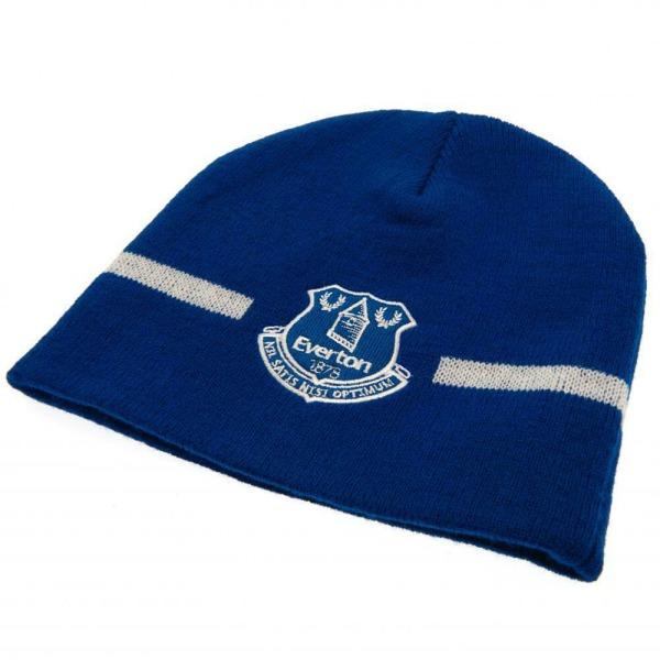 Everton FC Design Basic Stickad mössa hatt One Size Blå vit