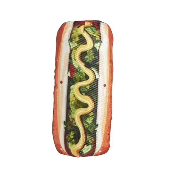 Fast R Food Hot Dog Squeaker Dog Toy 19cm Kan variera