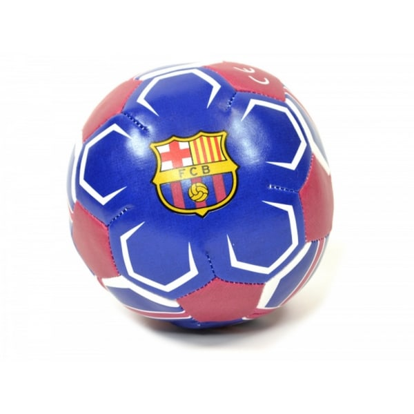 FC Barcelona Official Mini 4 tums mjuk fotboll 2 blå / vit / röd