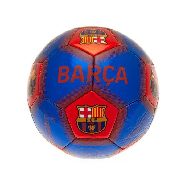FC Barcelona signerad skicklighetsfotboll En storlek blå / röd
