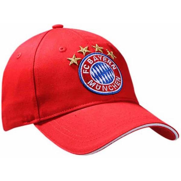 FC Bayern Munich Unisex Vuxna Crest Baseball Cap One Size Röd