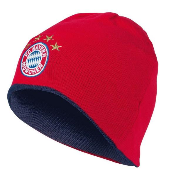FC Bayern Munich Vuxna Unisex vändbar stickad hatt One Size Red