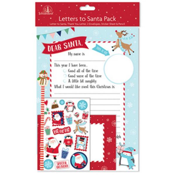 Festive Wonderland Julbrev till Santa Pack One Size Blå röd