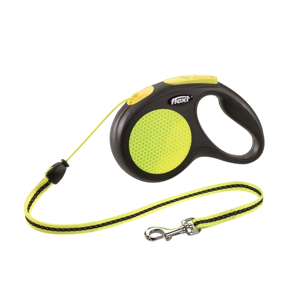 Flexi -Bogd New Neon Tape Extra Small Dog Lead (3M) One Size Gul