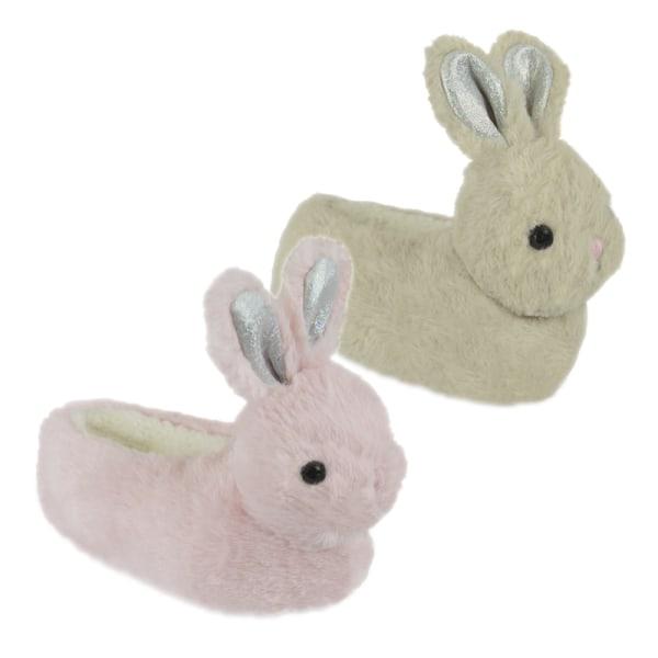 Flickor Bunny Head tofflor 9-10 UK Child Beige