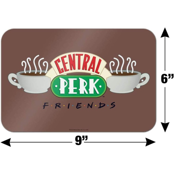 Friends Officiell Central Perk-affisch One Size Multicolour colo