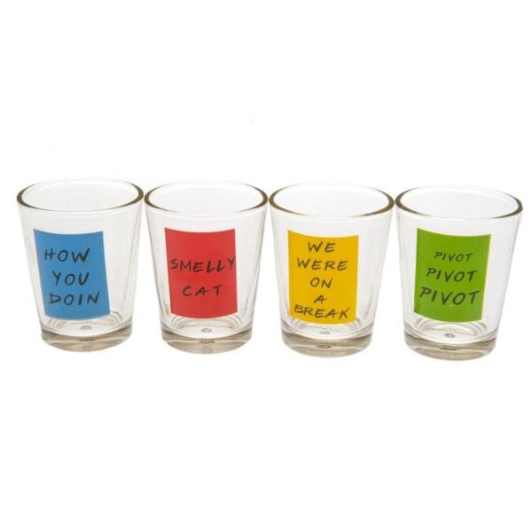 Friends Shot Glass Set (paket med 4) One Size Flerfärgade