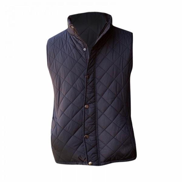Front Row Diamond Quilt Gilet / Bodywarmer för herrar S Svart