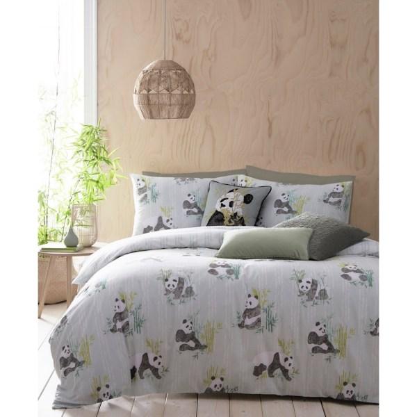 Furn Pandas påslakan King Mintgrön