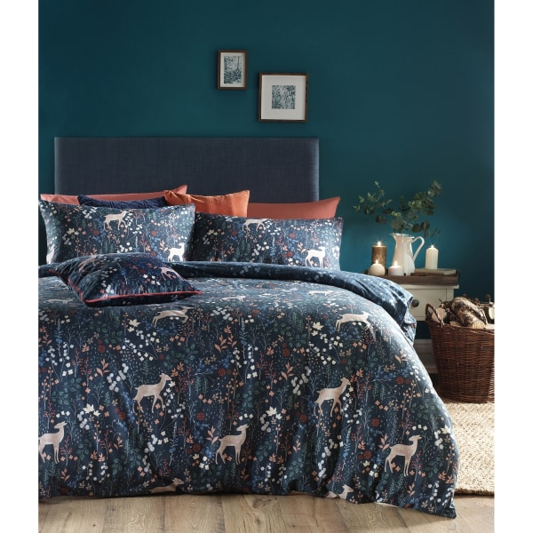 Furn Richmond-täcke-set med skogsmark och botanisk design Single