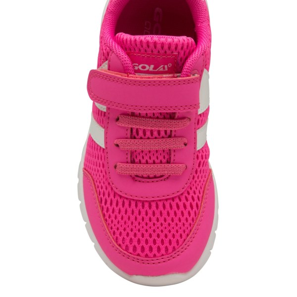 Gola Pojkar Clermont QF Touch Fastening Trainer 11 Child UK Rosa