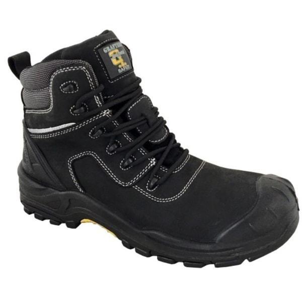 Grafters Läderlackerad 6in säkerhetsstövel 8 UK Svart Black 8 UK