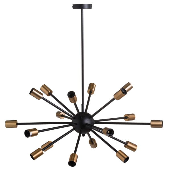 Hill Interiors Black And Messing Burst Light One Size Svart / Mä