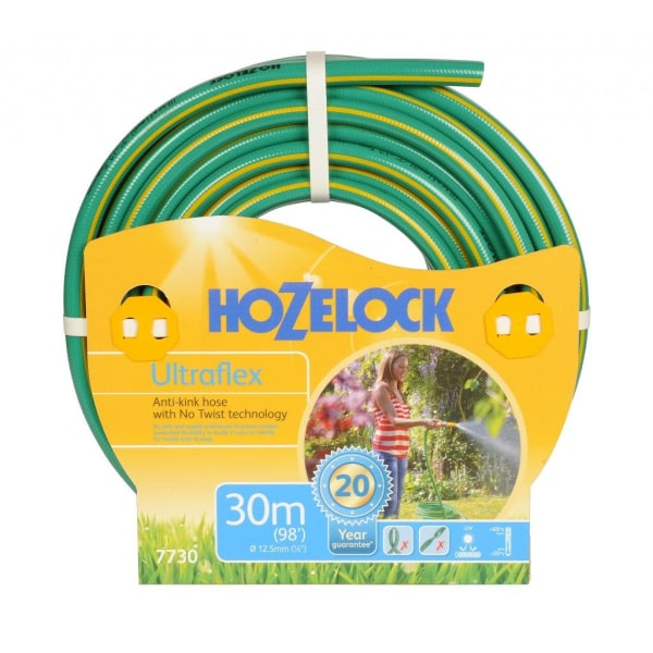 Hozelock Ultraflex Anti Kink trädgårdsslang 50m Grön gul