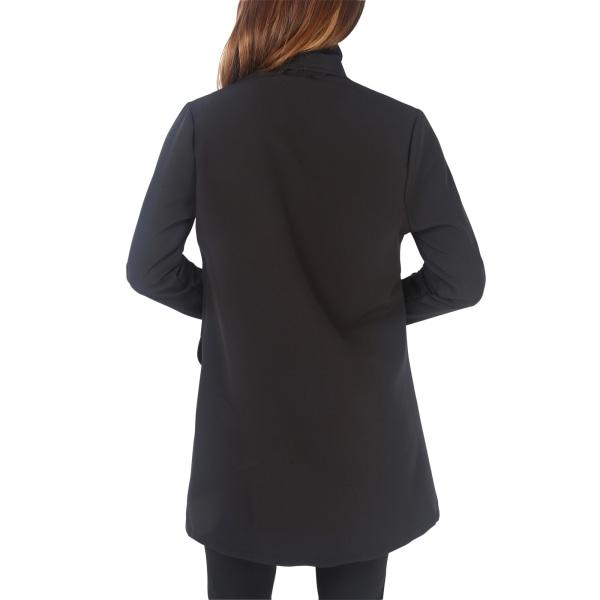 Krisp Kvinnors / damer överdimensionerade en knapp Longline Blazer XS Blac