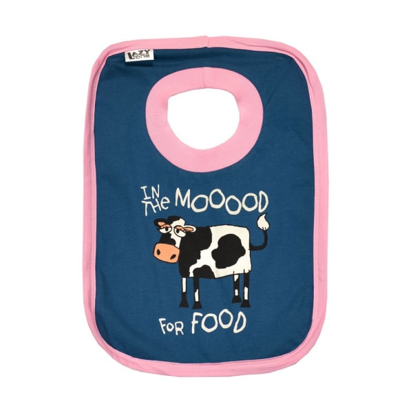 LazyOne I The Mooood For Food Bib One Size Blue / Pink
