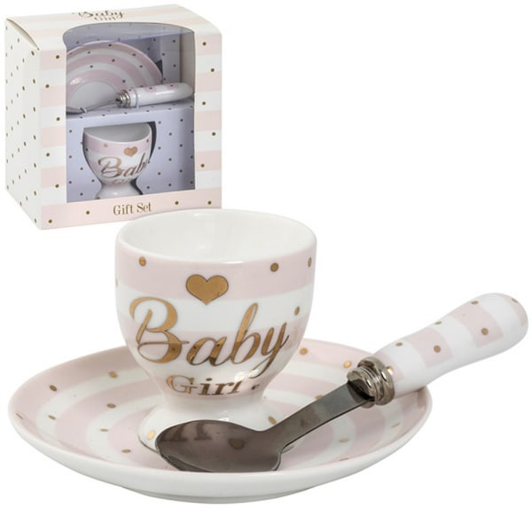 Lesser Pavey Mad Dots Baby Egg Cup / Plate Gift Set One Size Bab