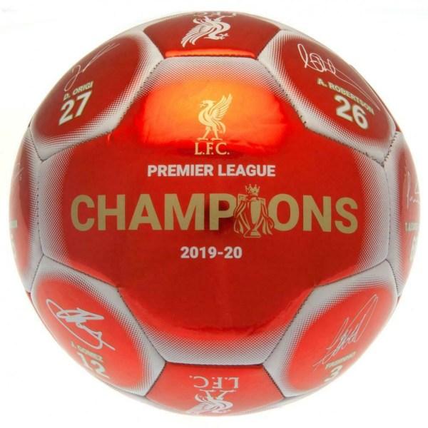 Liverpool FC Premier League Champions Metallic Football 5 Metall