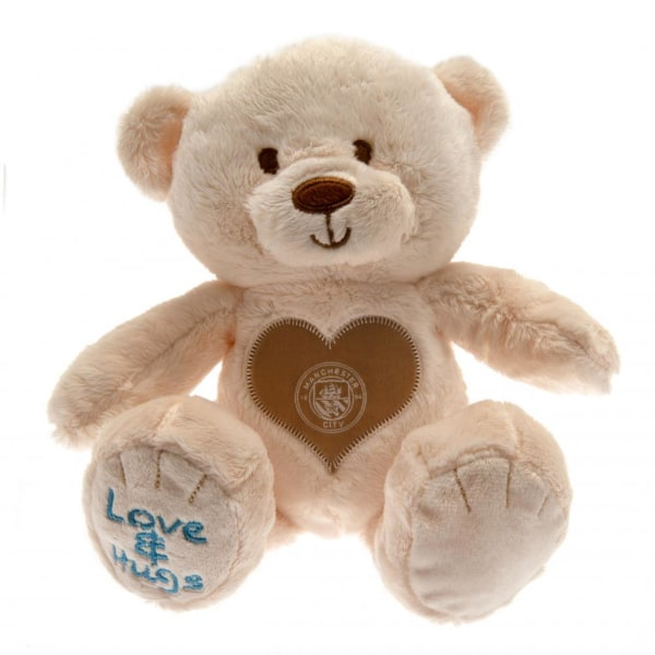 Manchester City FC Bear Hugs Soft Toy One Size Beige