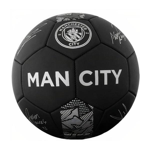 Manchester City FC Phantom Signature Football 5 Svart / Grå