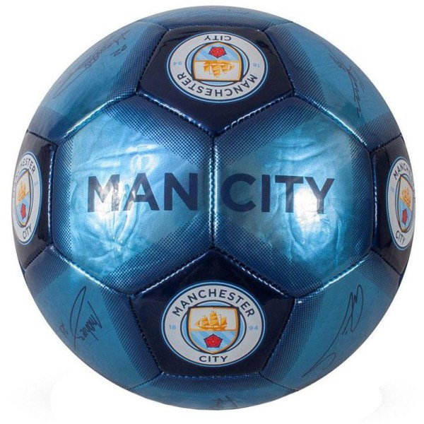 Manchester City FC Signature Skill Ball One Size Blue