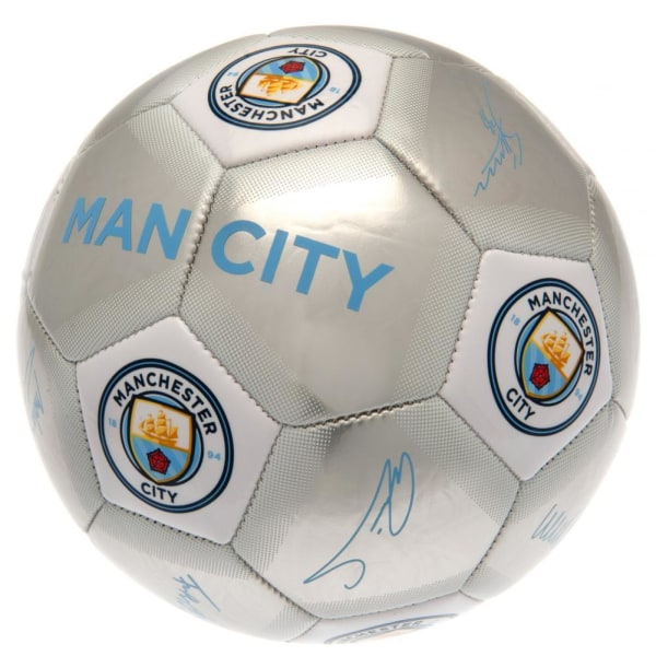 Manchester City FC Signature Football One Size Blue / Silver