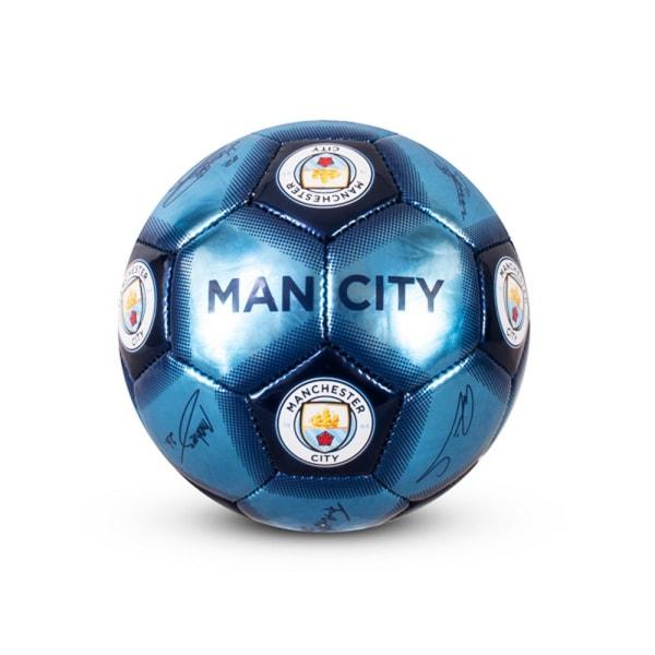 Manchester City FC Signatur Fotboll Storlek 1 Blå