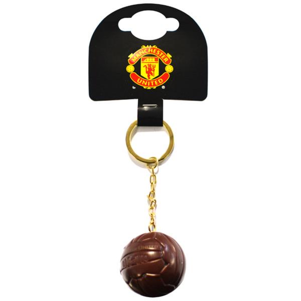 Manchester United FC Officiell Vintage Ball Keyring One Size Bru