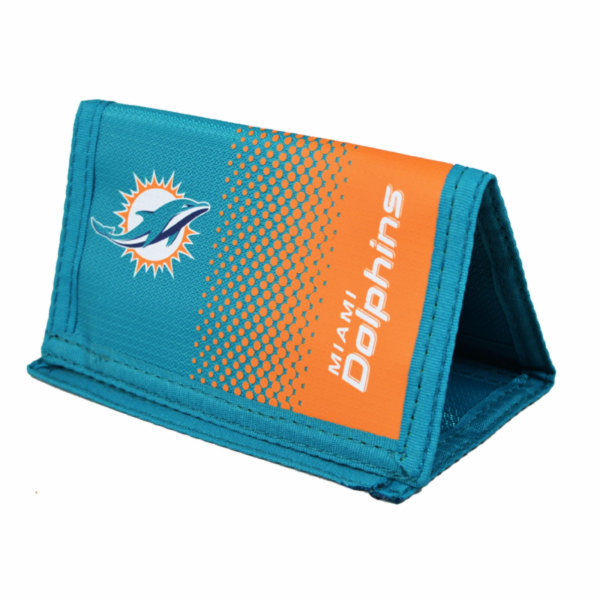 Miami Dolphins Officiell NFL Fade Crest Design plånbok One Size