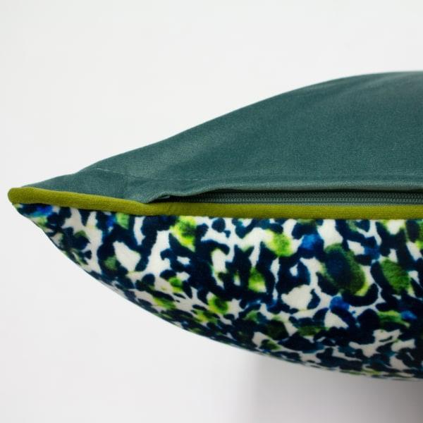 Mika kuddfodral med vändbara färger One Size Grön / Teal