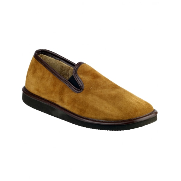 Mirak Barton Suede Slip-On Slipper / Mens Slippers 12 UK Tan