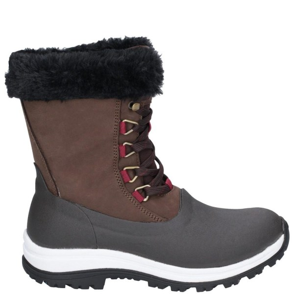 Muck Boots Apres Leather Lace Up Mid Boot för kvinnor / damer 3