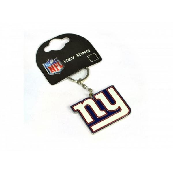 New York Giants Officiell NFL Crest Keyring One Size Vit / svart