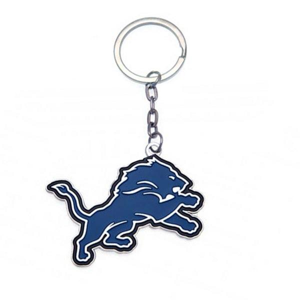 NFL Detroit Lions officiella klubb Crest Keyring One Size Blå
