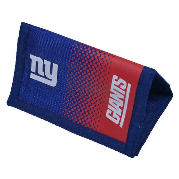NFL New York Giants Fade Stickad Football Crest Wallet One Size