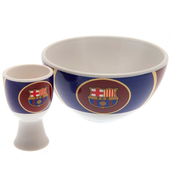 FC Barcelona Unisex vuxen frukost set One Size Vit / blå / rödbr